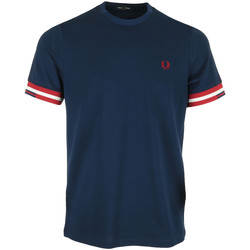 Vêtements Homme T-shirts manches courtes Fred Perry Abstract Cuff T-Shirt bleu