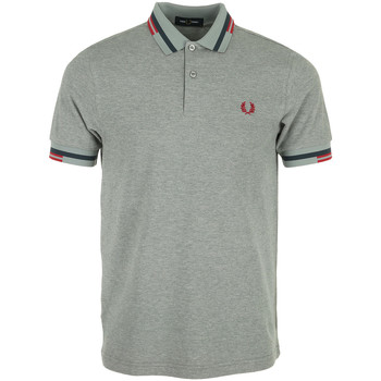 Vêtements Homme Polos manches courtes Fred Perry Abstract Tipped Polo Shirt gris