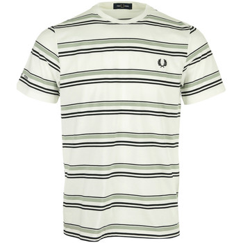 Vêtements Homme T-shirts manches courtes Fred Perry Striped T-Shirt blanc