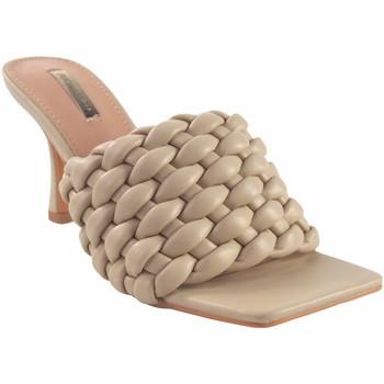 Chaussures Femme Claquettes Bienve Cérémonie dame  -1170 beige Marron
