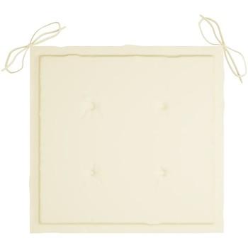 Maison & Déco Galettes de chaise VidaXL Coussin de chaise de jardin 40 x 40 x 4 cm Crème