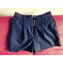 Vêtements Femme Shorts / Bermudas Sans marque Short Etam chic Bleu