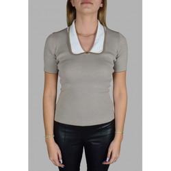 Vêtements Femme T-shirts manches courtes Prada T-Shirt Marron