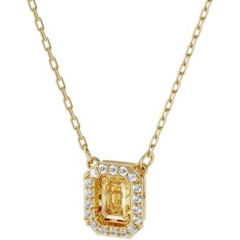 Montres & Bijoux Femme Colliers / Sautoirs Swarovski Collier Millenia  Zirconia carré jaune Jaune