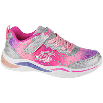 Chaussures Enfant Fitness / Training Skechers Power Petals-Painted Daisy Argent