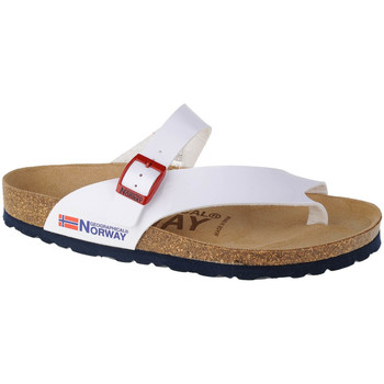Chaussures Femme Tongs Geographical Norway Sandalias Infradito Donna Blanc