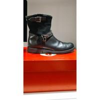 Chaussures Fille Bottines Garvalin Boots Garvalin fille modèle Tormesa Noir