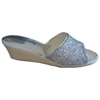 Chaussures Femme Mules Original Milly CHAUSSON DE CHAMBRE MILLY - 104 ARGENT Argenté