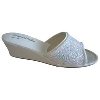 Chaussures Femme Mules Original Milly CHAUSSON DE CHAMBRE MILLY - 104 BLANC blanc