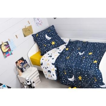 Maison & Déco Housses de couettes 1001Kdo Pour La Maison Parure Housse de couette Univers Astral 140x200cm Bleu