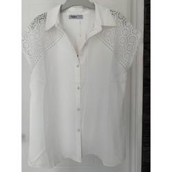 Vêtements Femme Chemises / Chemisiers Unisa Chemisier manches courtes Blanc