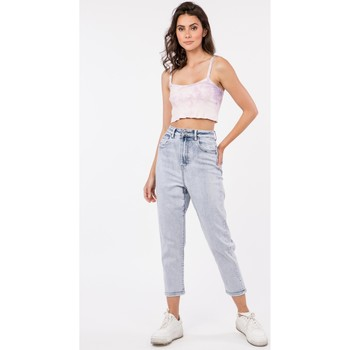 Vêtements Jeans Toxik3 Jean mom - Halo Bleu jean clair