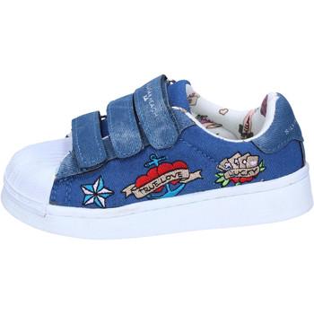 Chaussures Fille Baskets basses Silvian Heach BH157 Bleu