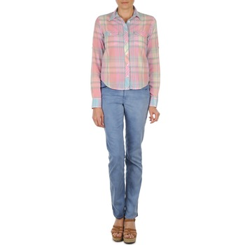Vêtements Femme Jeans droit Gant DANA SPRAY COLORED DENIM PANTS Bleu