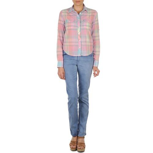 Vêtements Femme Jeans droit Gant DANA SPRAY COLORED DENIM PANTS Bleu