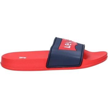 Chaussures Garçon Claquettes Levi's POOL Rouge