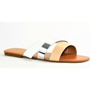 Chaussures Femme Mules Cink-me DMH BLANC MULTI