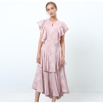 Vêtements Femme Robes longues Smart & Joy Pavotte Rose parme