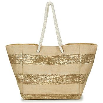 Sacs Femme Cabas / Sacs shopping Betty London ORSI Beige / or