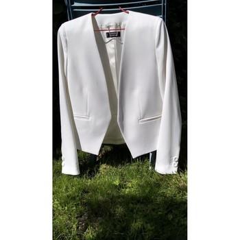 Vêtements Femme Vestes / Blazers Mango Veste tailleur blanche Blanc