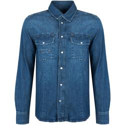 Vêtements Homme Chemises manches longues Bikkembergs  Bleu
