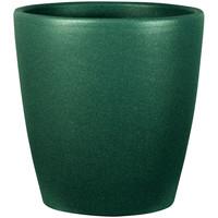Maison & Déco Vases, caches pots d'intérieur Décolines Cache pot Egg Émeraude en céramique 14 cm Vert