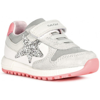 Chaussures Fille Baskets basses Geox basket b alben g a blanc