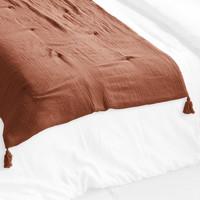 Maison & Déco Couvertures 1001Kdo Pour La Maison Edredon gaze de coton terracotta