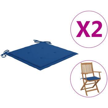 Maison & Déco Galettes de chaise VidaXL Coussin de chaise de jardin 40 x 40 x 4 cm Bleu