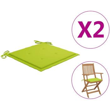 Maison & Déco Galettes de chaise VidaXL Coussin de chaise de jardin 40 x 40 x 4 cm Vert