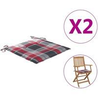 Maison & Déco Galettes de chaise VidaXL Coussin de chaise de jardin 40 x 40 x 4 cm Multicolore