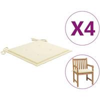 Maison & Déco Galettes de chaise VidaXL Coussin de chaise de jardin 50 x 50 x 4 cm Crème