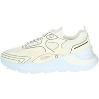 Chaussures Homme Baskets basses Date FUGA HF Blanc crème
