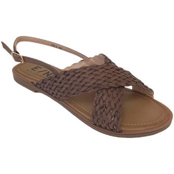 Chaussures Femme Sandales et Nu-pieds Elue par nous Jela Marron