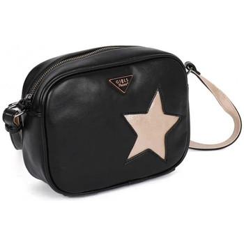 Sacs Femme Sacs porté épaule Girls Power Sac reporter  ARIA Noir étoile métallisée Or Multicolor