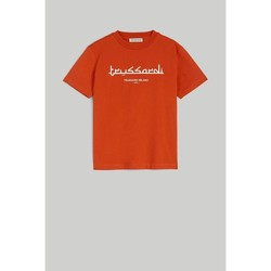 Vêtements Homme T-shirts manches courtes Trussardi Boxy Cotton T-shirt with Lettering Red