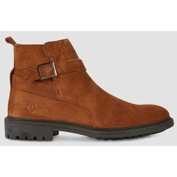 Chaussures Homme Bottes Trussardi Suede Beatle Boots with Strap Brown