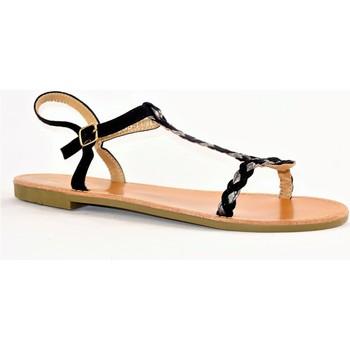 Chaussures Femme Sandales et Nu-pieds Cink-me DM2283 NOIR ARGENT