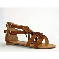 Chaussures Femme Sandales et Nu-pieds Cink-me DM2283 CAMEL