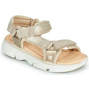 Chaussures Fille Sandales et Nu-pieds Geox J SANDAL LUNARE GIRL Beige