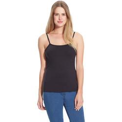 Vêtements Femme T-shirts & Polos Balsamik Top à fines bretelles extensible noir
