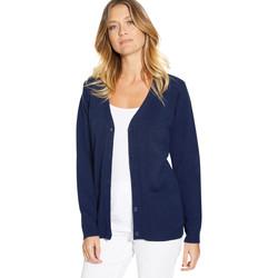 Vêtements Femme Gilets / Cardigans Balsamik Gilet classique manches longues marine