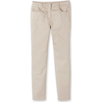 Vêtements Femme Pantalons Kocoon Pantalon droit stature + d'1,60m beige
