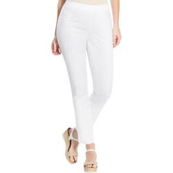 Vêtements Femme Pantalons Balsamik Pantalon 7/8ème uni stature + d'1,60m blanc