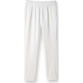 Vêtements Femme Chinos / Carrots Balsamik Pantalon 7/8ème uni stature - d'1,60m blanc