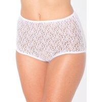 Sous-vêtements Femme Culottes & slips Balsamik Lot de 3 culottes maxi maille dentelle blanc