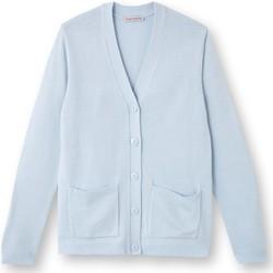 Vêtements Femme Gilets / Cardigans Kocoon Gilet classique manches longues ciel