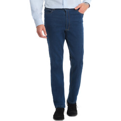 Vêtements Homme Jeans droit Honcelac Jean droit extensible à taille élastiqué bleustone