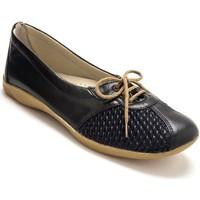 Chaussures Femme Derbies Pediconfort Derbies côtés extensibles cuir marine