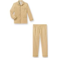 Vêtements Homme Pyjamas / Chemises de nuit Honcelac Pyjama en flanelle imprimbeige